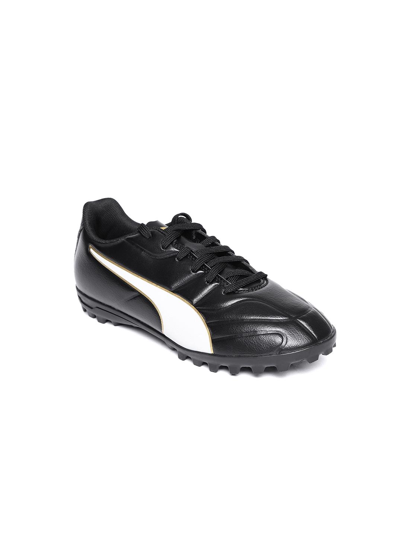 Puma Boys Black   White Classico C II TT Football Shoes