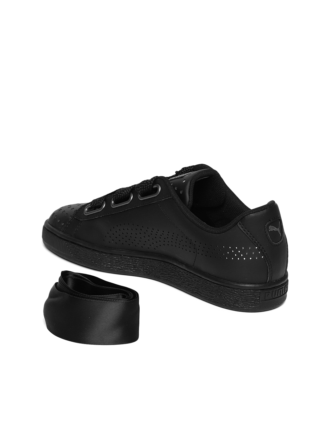 54d1c9ab61a5a2 Buy Puma Women Black Basket Heart Ath Lux Sneakers - Casual Shoes ...