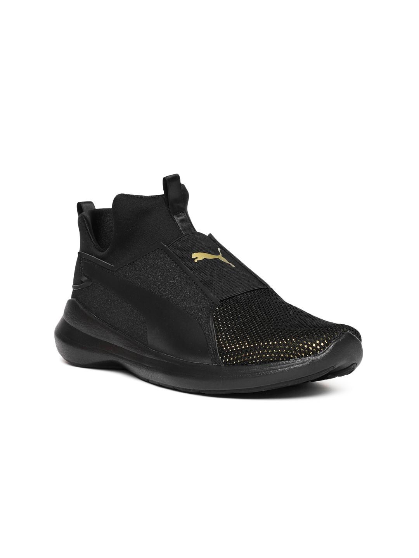 92190d0103d7f3 Buy Puma Women Black Rebel Mid LX Slip On Sneakers - Casual Shoes ...