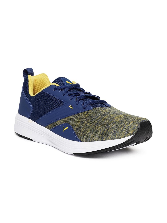b9e5367e884 Buy Puma Unisex Blue   Yellow NRGY Comet Running Shoes - Sports ...