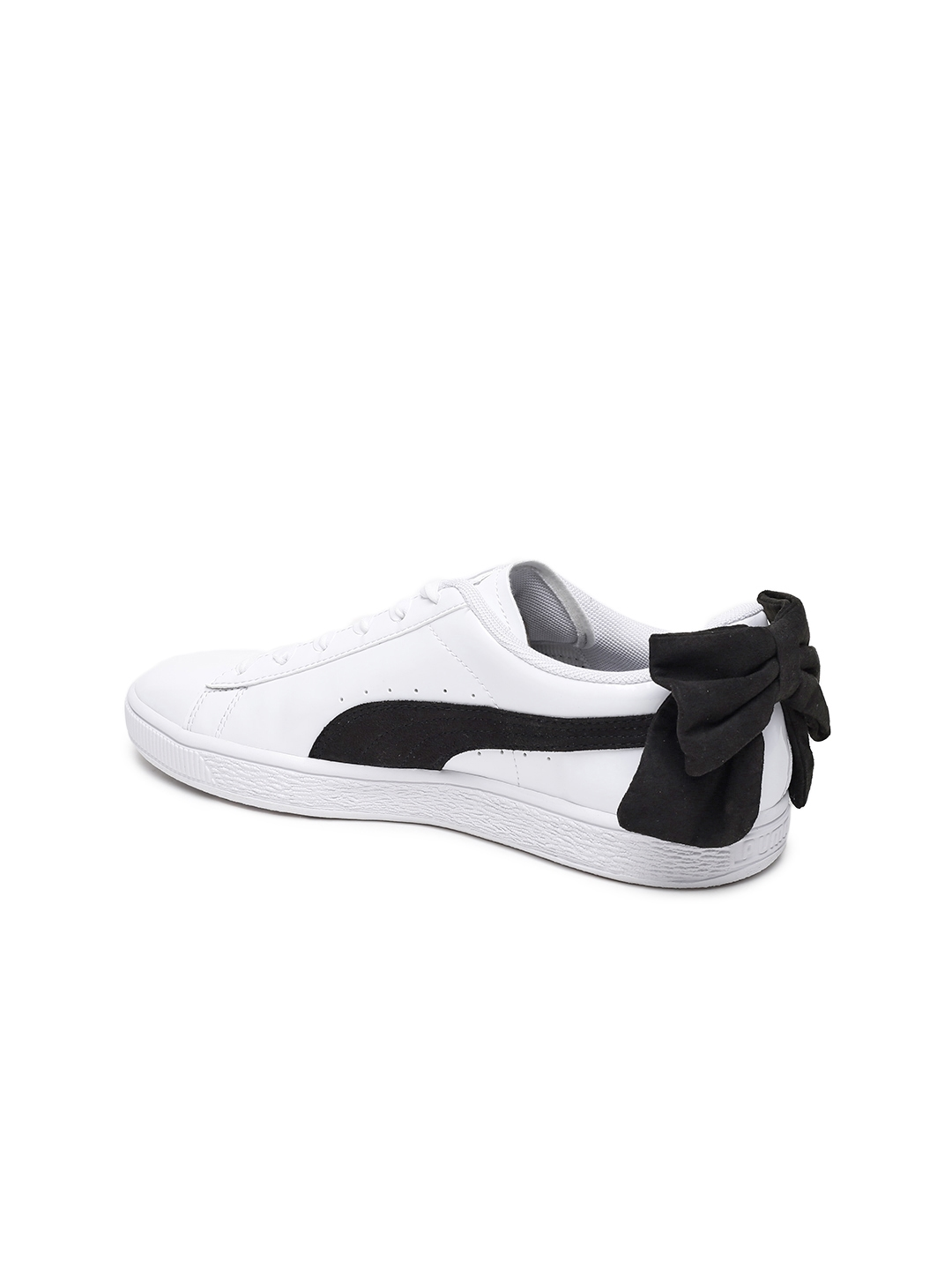5aaaabfce2b Buy Puma Women White Basket Bow SB Sneakers - Casual Shoes for Women ...