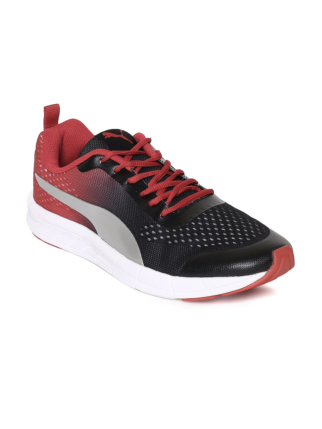 Buy Puma Men Black   Red Feral Runner Running Shoes - Sports Shoes ... d4f931d83