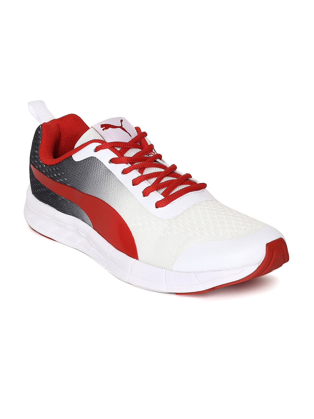 Buy Puma Men White   Red Feral Runner Running Shoes - Sports Shoes ... 3bcc44d97