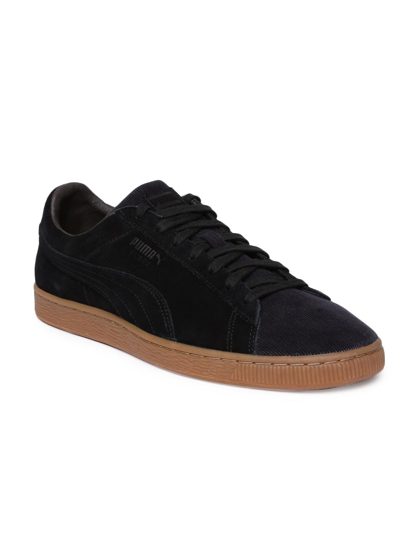 Buy Puma Men Black Suede Classic