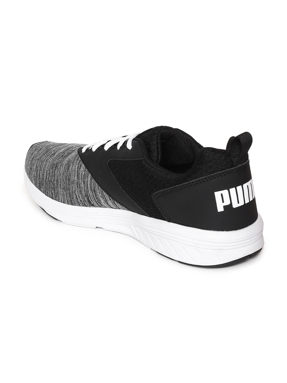 5f4fbb42809 Buy Puma Unisex Grey Melange   Black NRGY Comet Running Shoes ...
