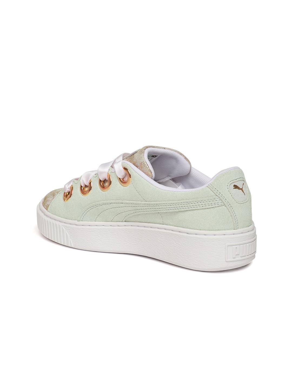 6dd8fc1eb22 Buy Puma Women Off White Suede Platform Kiss Artica Sneakers ...
