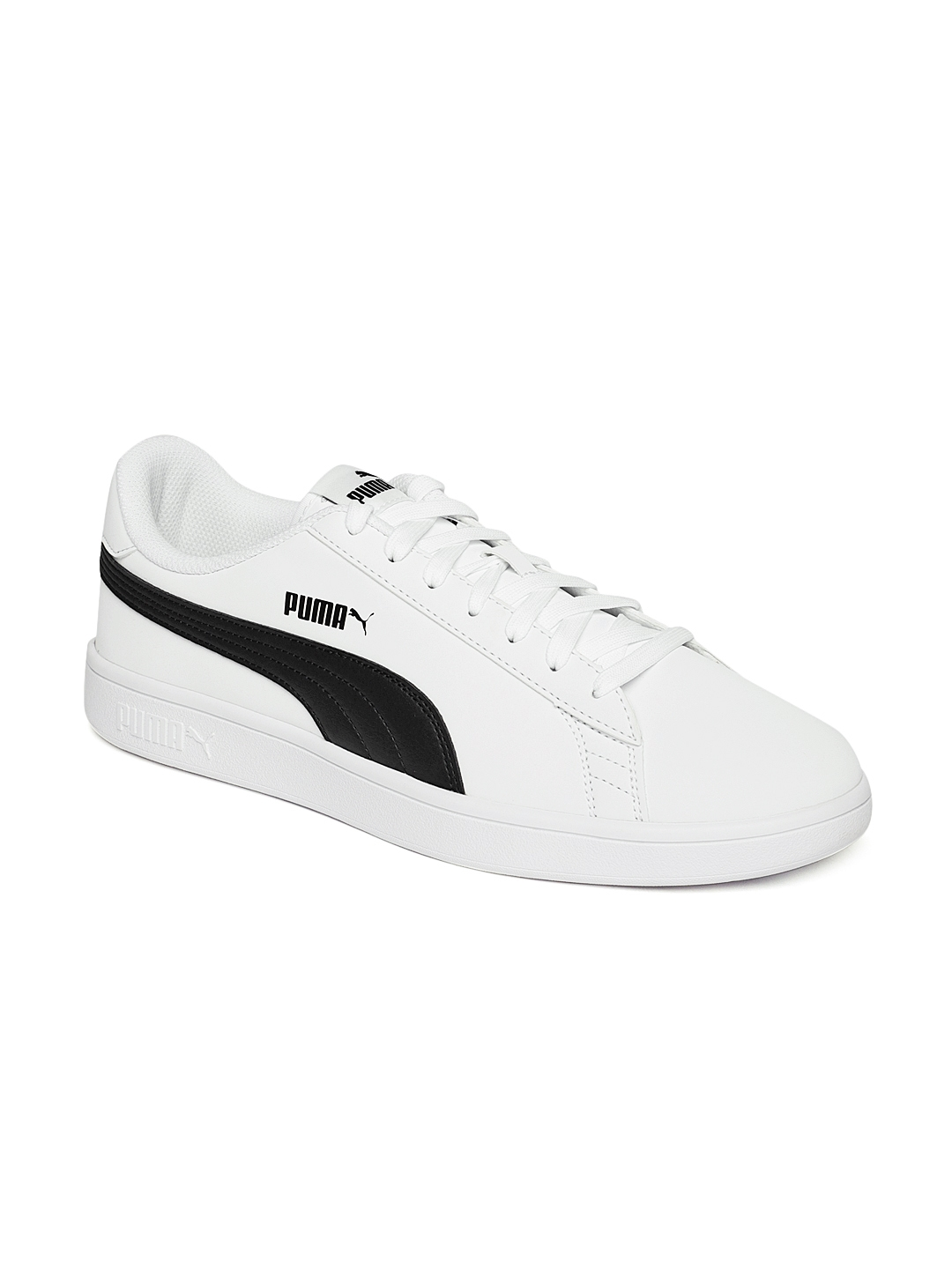 Buy Puma Unisex White Smash V2 Buck Sneakers - Casual Shoes for ... 02f8e5164