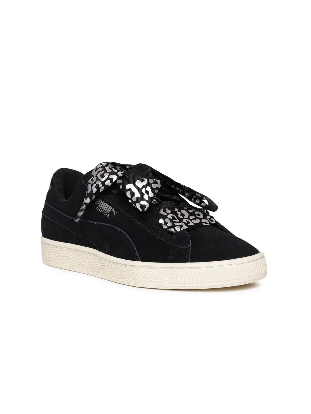 5f9697dbb10 Buy Puma Girls Black Suede Heart Suede AthLuxe Jr Sneakers - Casual ...