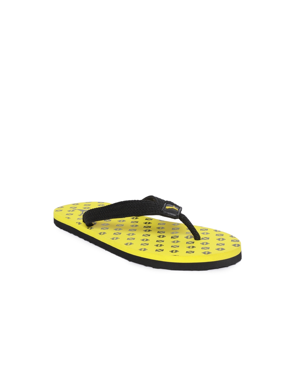 86ec419f20e Buy Puma Kids Black   Yellow Epic Toss PS IDP Printed Thong Flip ...