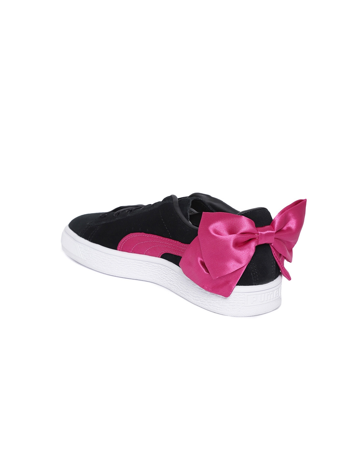 499e44c5ec8 Buy Puma Girls Black Suede Bow Junior Sneakers - Casual Shoes for ...