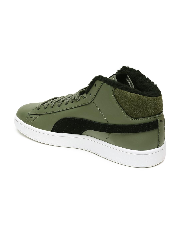 6b091c60651f Buy Puma Men Green Smash V2 Mid WTR L Sneakers - Casual Shoes for ...