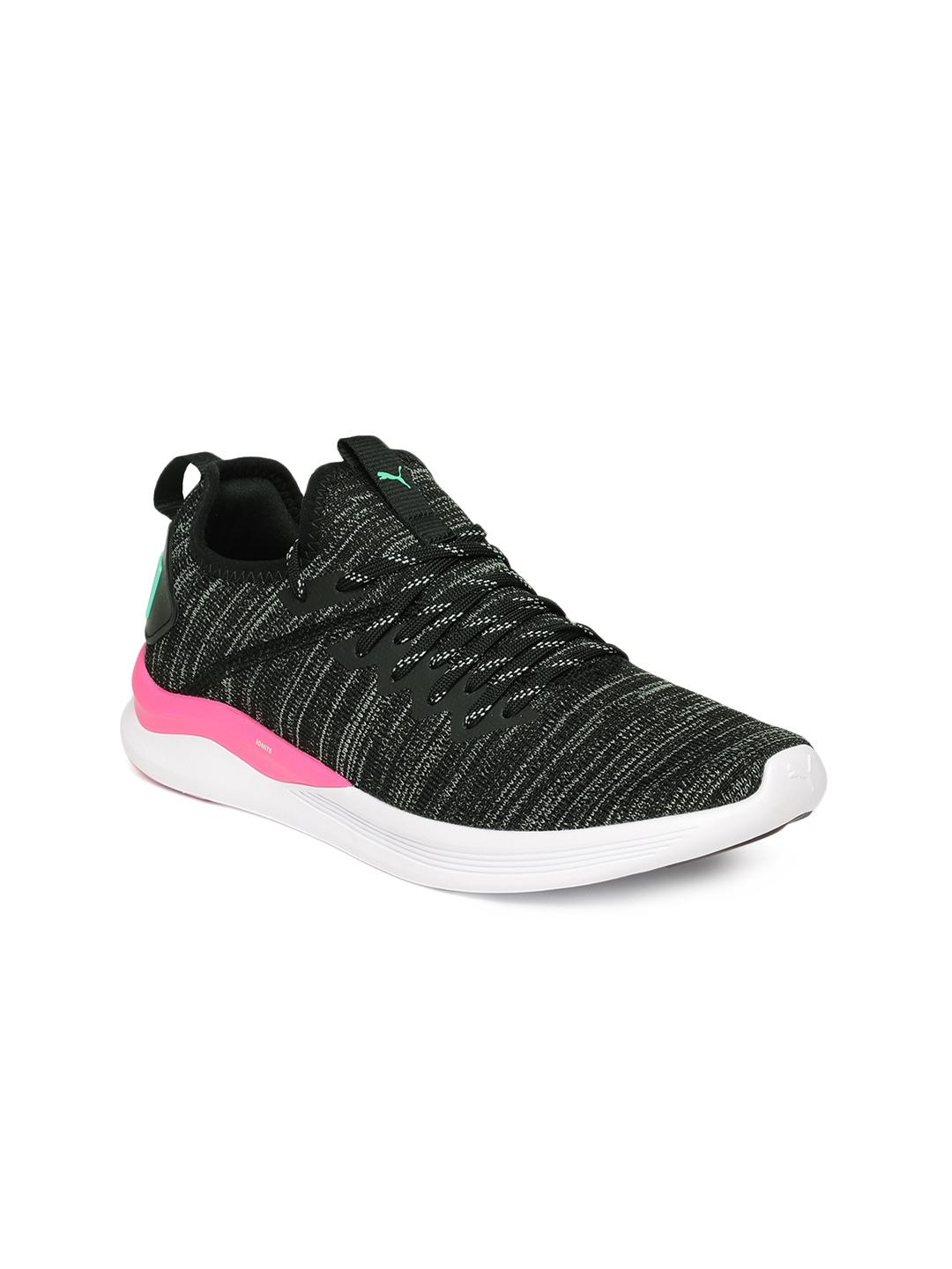 huge discount a9937 470cc Puma Women Black IGNITE Flash evoKNIT Running Shoes