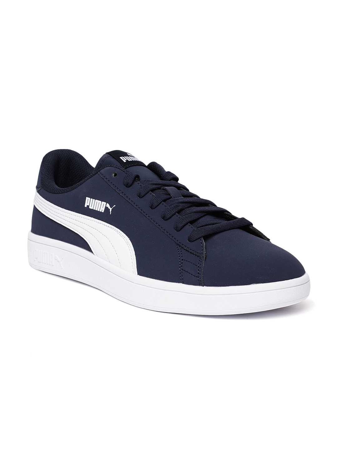 bb8d8ba117d Buy Puma Unisex Navy Blue Smash V2 Buck Sneakers - Casual Shoes for ...