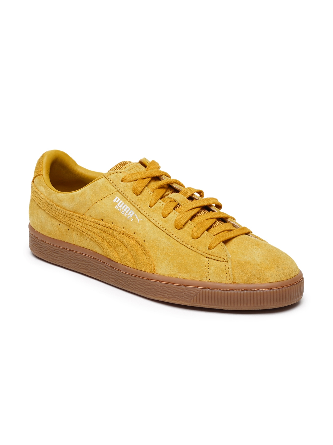 finest selection 72c7a d5f1f Puma Unisex Yellow Basket Classic Weatherproof Suede Sneakers
