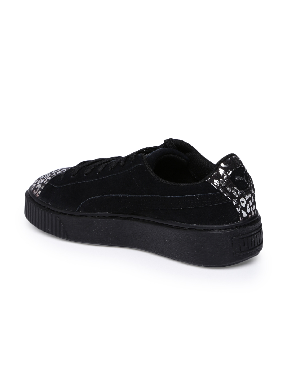 991ff5a3355 Buy Puma Girls Black Suede Platform AthLuxe Suede Junior Sneakers ...