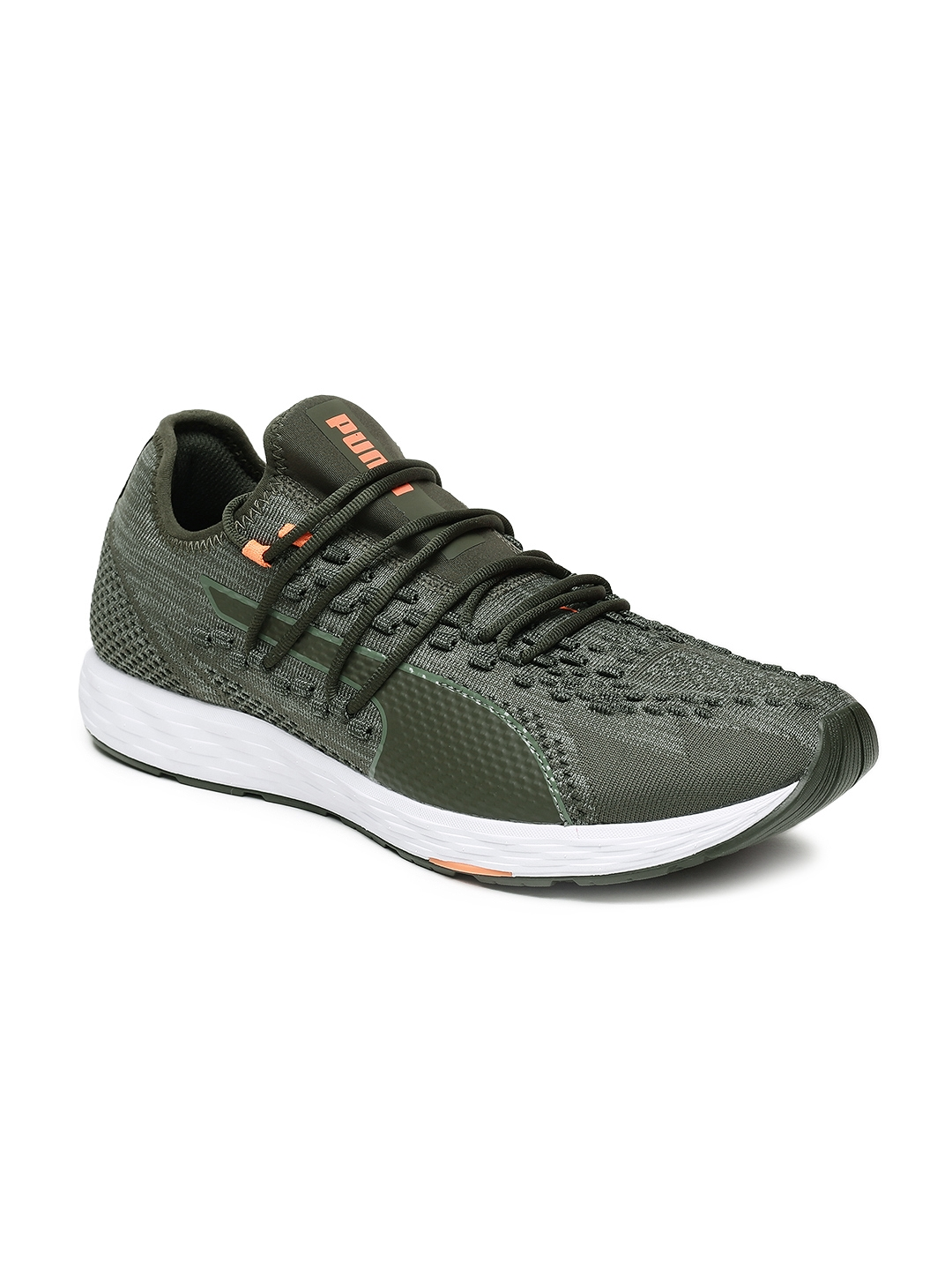 Buy Puma Men Olive Green SPEED RACER Running Shoes - Sports Shoes ... 6b867f2e53