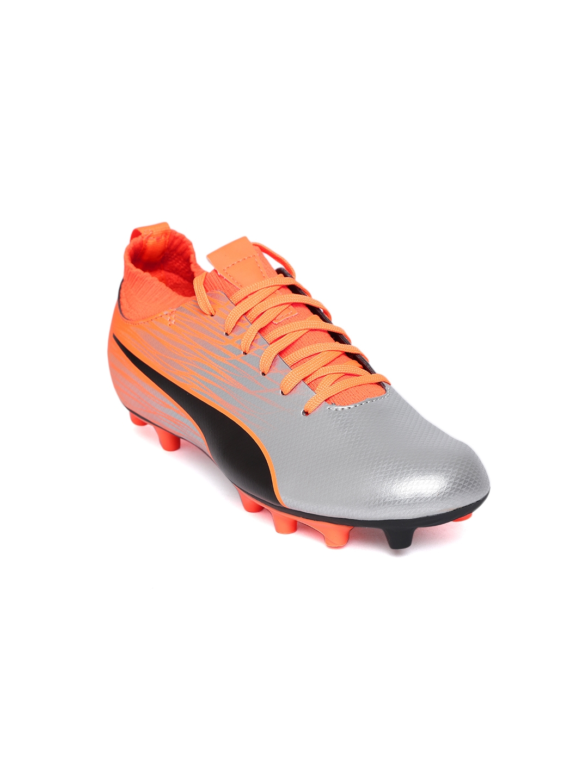 9eae56388 Buy Puma Boys Silver Toned EvoKNIT FTB II FG Jr Football Shoes ...