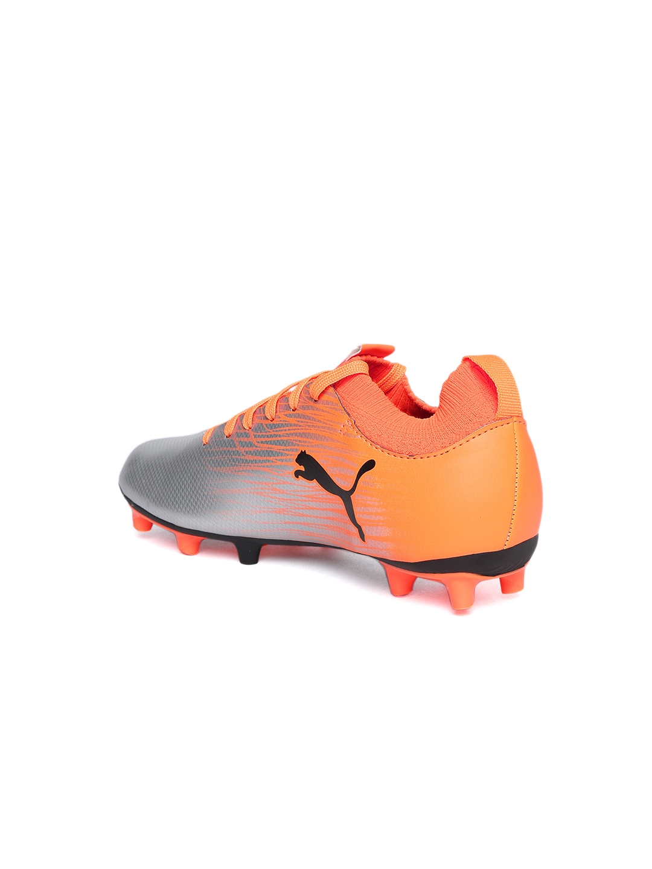 0cefb6dabeba Buy Puma Boys Silver Toned EvoKNIT FTB II FG Jr Football Shoes ...