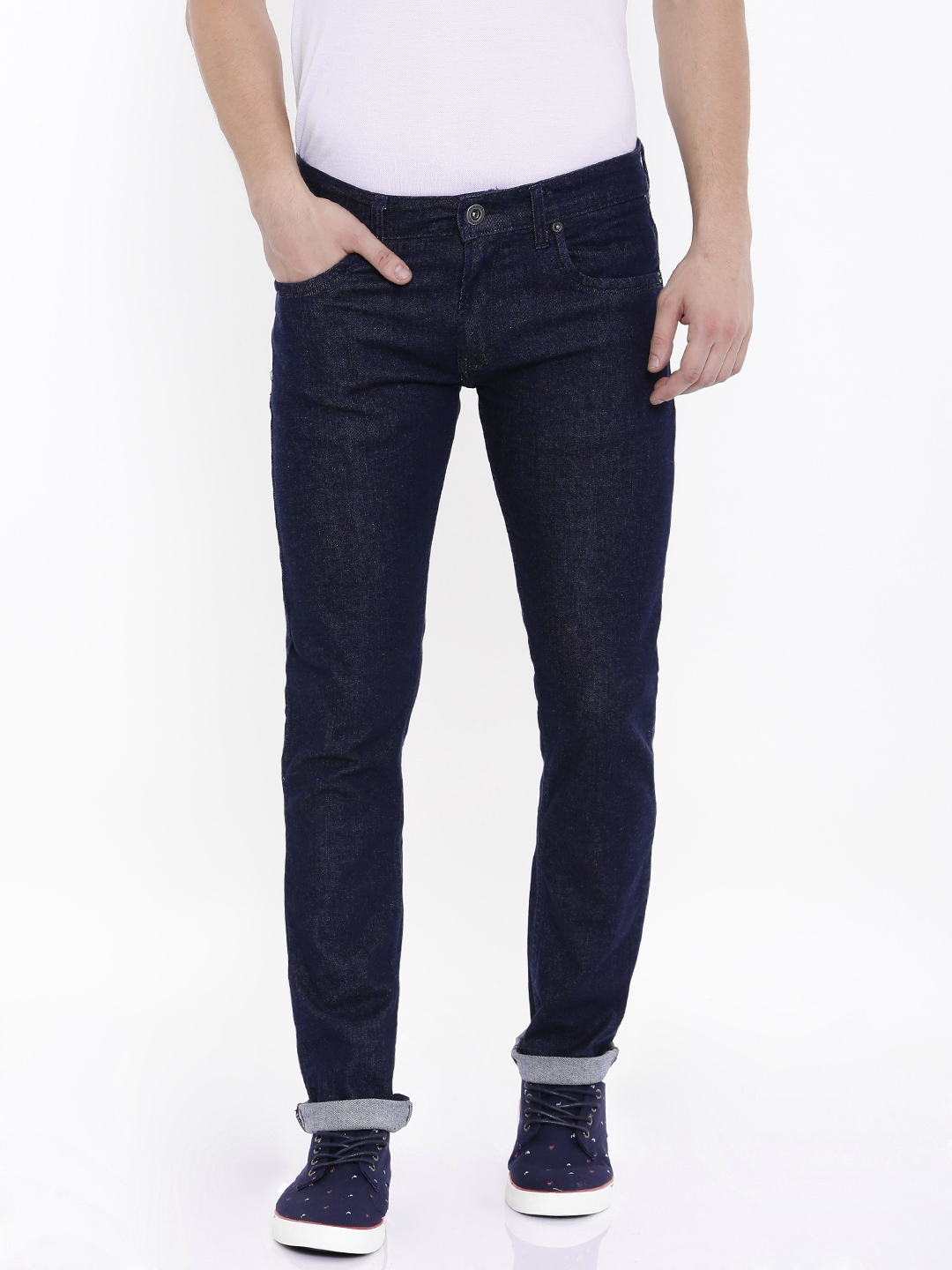 Buy Pepe Jeans Men Blue Vapour Slim Fit Low Rise Jeans - Jeans for ... 600090caa81