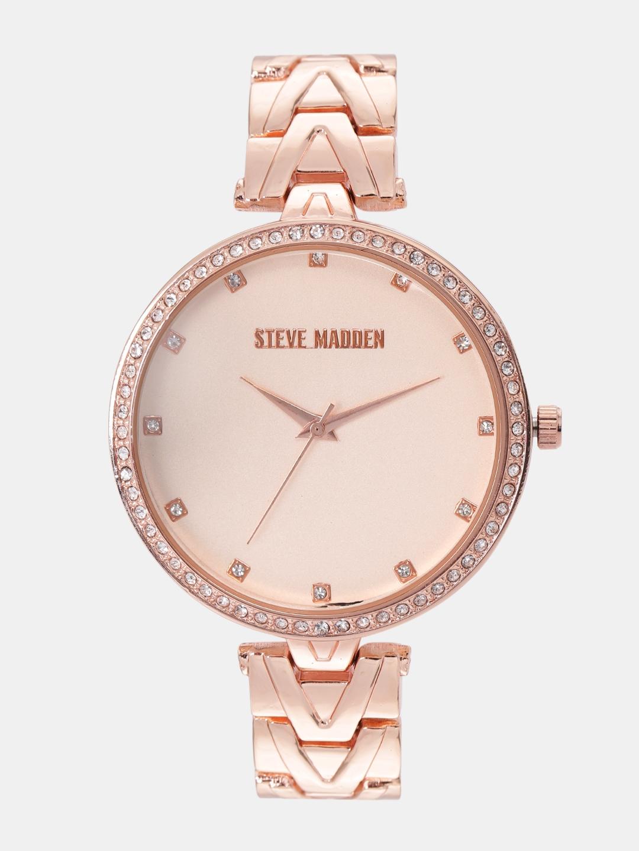 fcaa6ef1d5d Steve Madden Women Rose Gold-Toned Analogue Watch SMW179Q