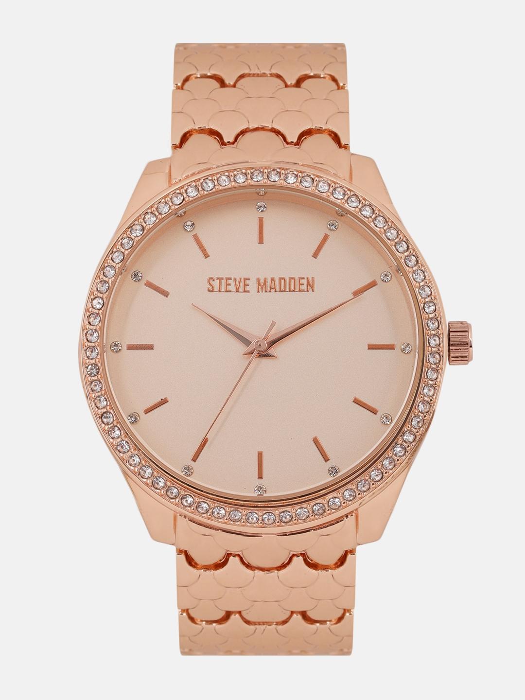 f3624f02834 Steve Madden Women Rose Gold Embellished Analogue Watch SMW170Q