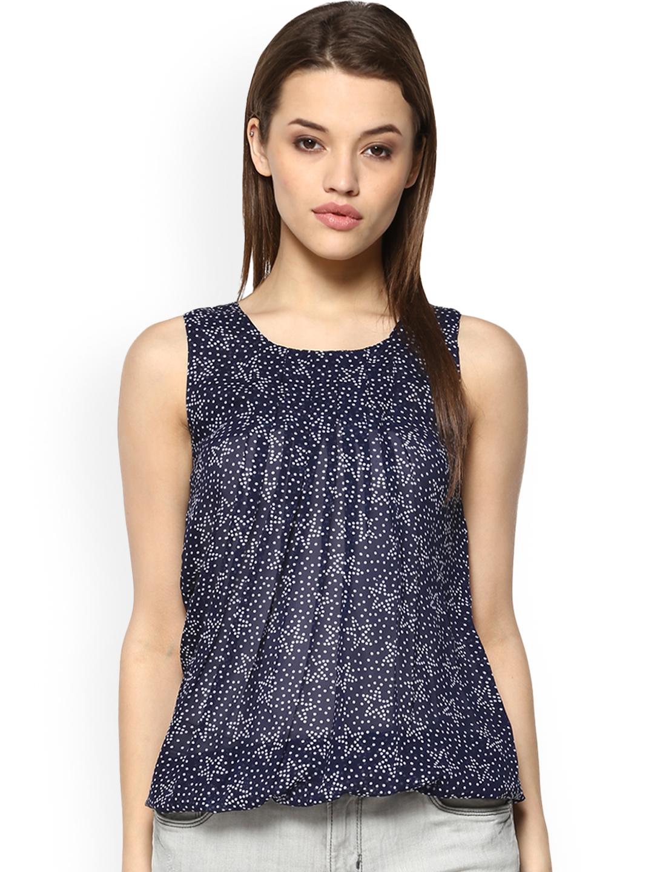 Mayra Women Blue Printed Top