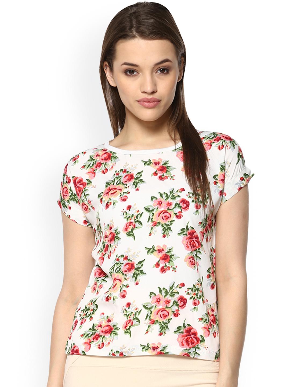 Mayra Women White Floral Printed Top