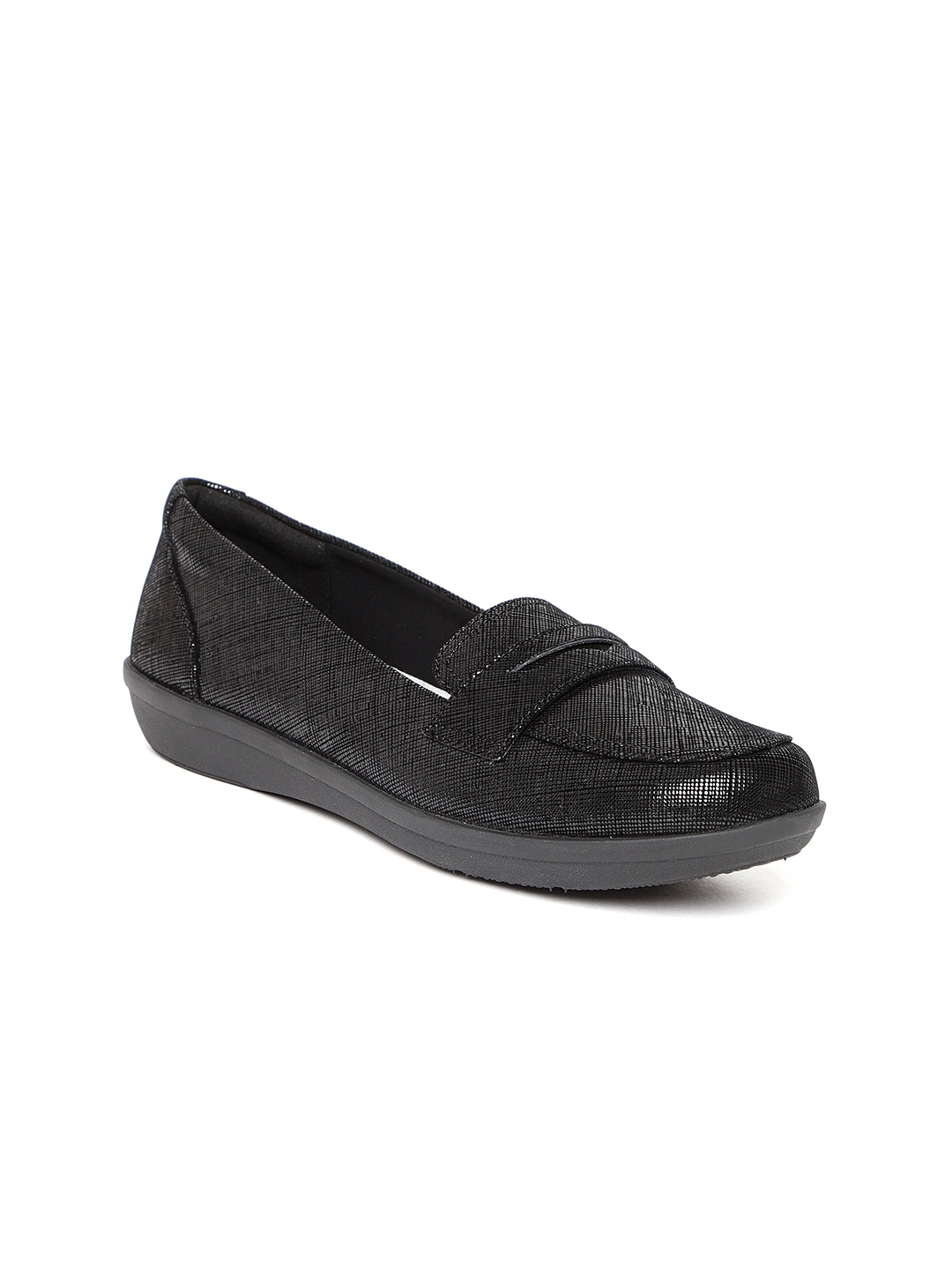 ed5b8bd6003 Buy Clarks Women Black Penny Loafers - Casual Shoes for Women ...