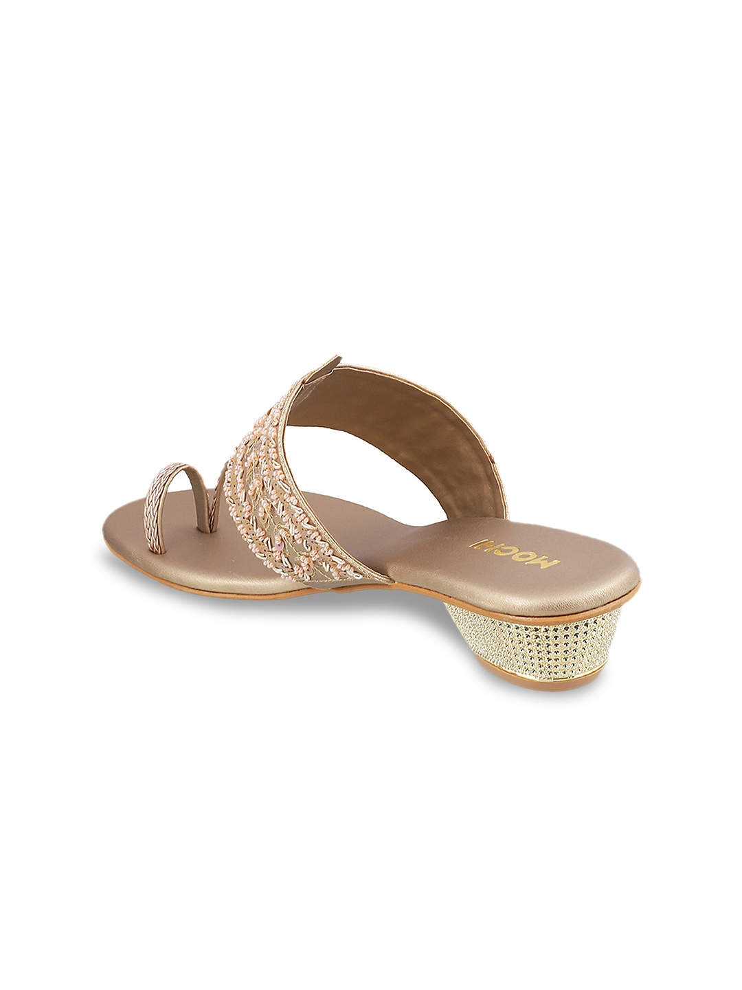 1fef76eca Buy Mochi Women Gold Toned Woven Design Sandals - Heels for Women ...