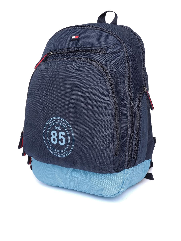 9df2df500d1 Buy Tommy Hilfiger Unisex Navy Blue Solid Laptop Backpack ...