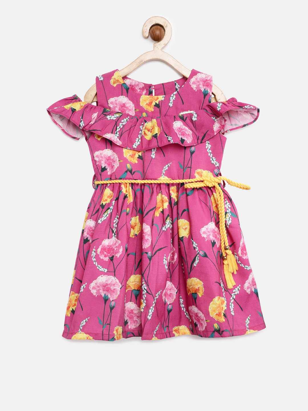 99f9bafe8 Buy Peppermint Girls Pink WINTER RUSH Printed Fit And Flare Dress ...