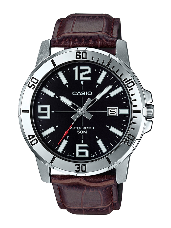 CASIO Enticer Men Black Dial Analog Watch MTP VD01L 1BVUDF   A1370