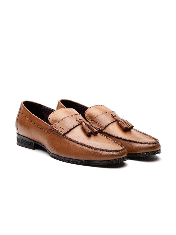 c93829960fa3 Buy Carlton London Men Tan Brown Leather Semiformal Loafers - Formal ...