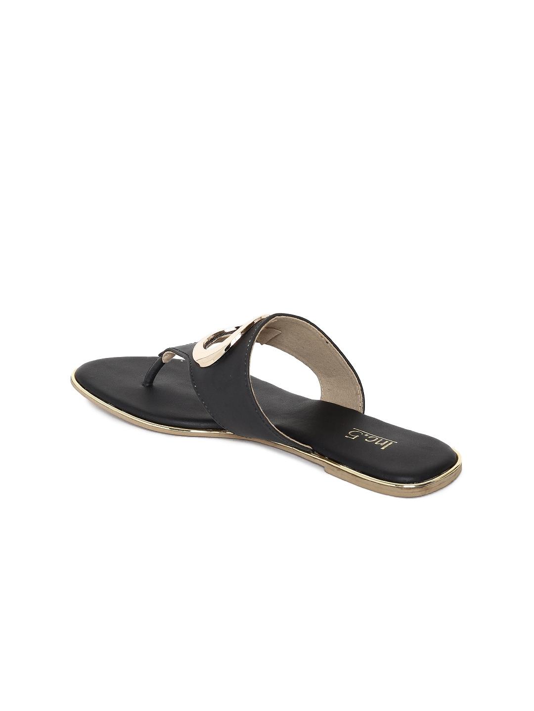6feae4039a7cc5 Buy Inc 5 Women Black Solid T Strap Flats - Flats for Women 7267004 ...
