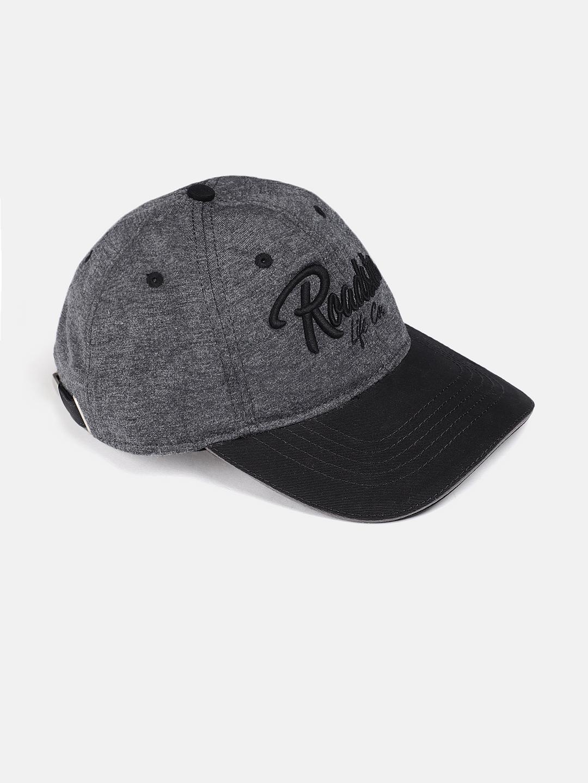 0835f703786dfc Buy Roadster Unisex Grey & Black Solid Baseball Cap - Caps for ...