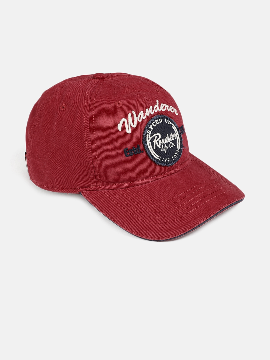 0dfeaed6336204 Buy Roadster Unisex Maroon Embroidered Baseball Cap - Caps for ...