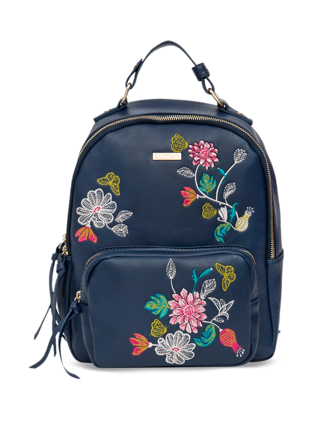 35729c3f358e Buy Chumbak Women Navy Blue Embroidered Backpack - Backpacks for ...