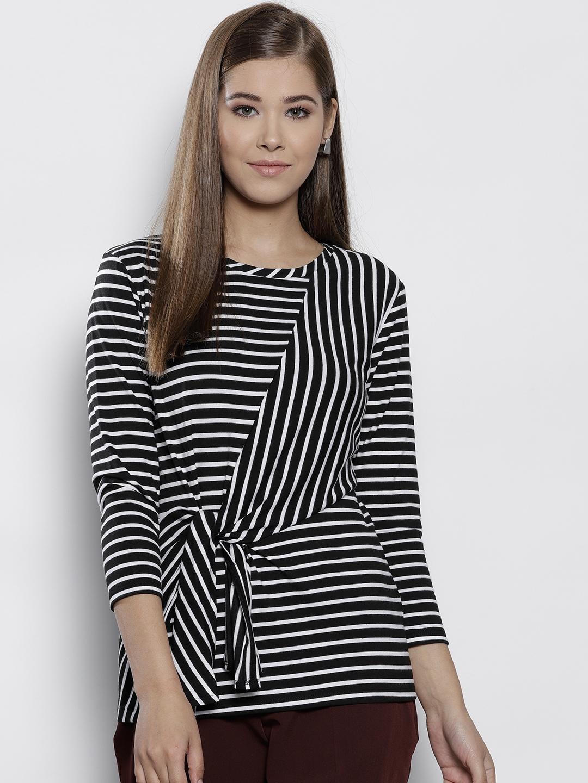 ac49d32fe01 DOROTHY PERKINS Women Black & White Striped Top