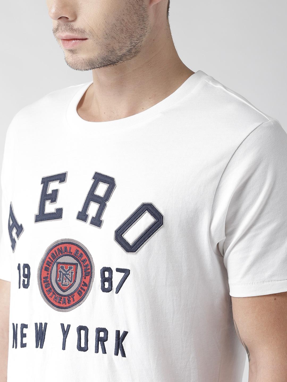 871b7ad0 Buy Aeropostale Men White Applique Detail Round Neck T Shirt ...