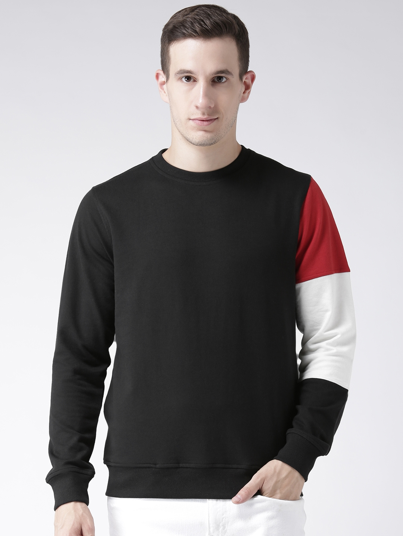 Club York Men Black Solid Sweatshirt