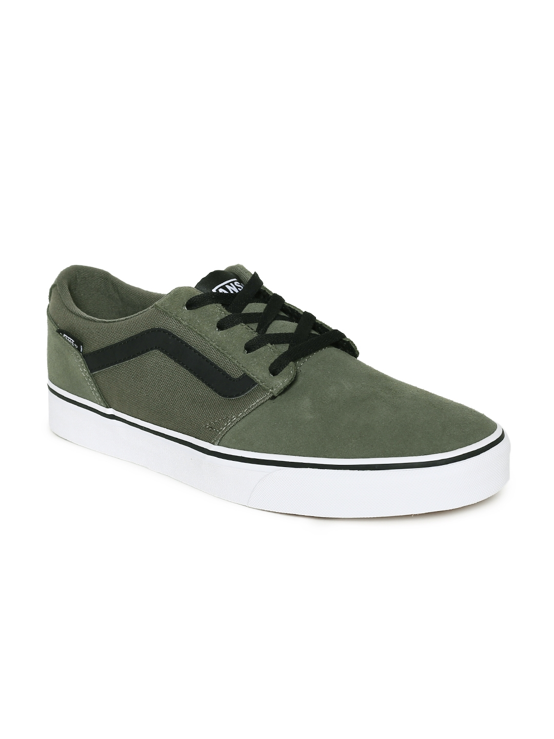 2517bd7de7 Buy Vans Men Olive Green Suede Chapman Stripe Sneakers - Casual ...