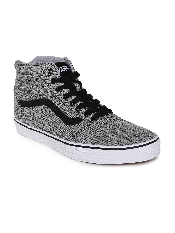 55eda5defb Buy Vans Men Grey Solid Ward Hi Mid Top Sneakers - Casual Shoes for ...