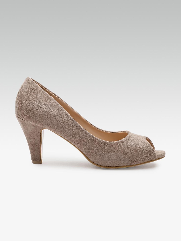801772ce4b Buy Carlton London Women Taupe Solid Peep Toes - Heels for Women ...