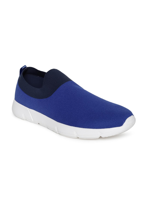 United Colors of Benetton Men Blue Slip On Sneakers