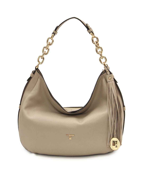 a02386d14718 Buy Da Milano Cream Coloured Solid Leather Hobo Bag - Handbags for ...