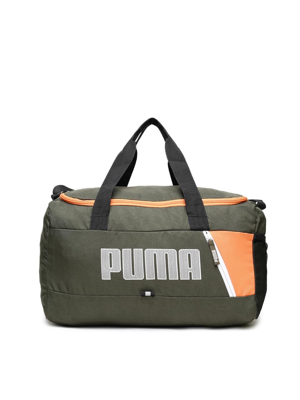 Buy Puma Unisex Olive Green Fundamentals Sports Duffle Bag - Duffel ... ea35174f7e689