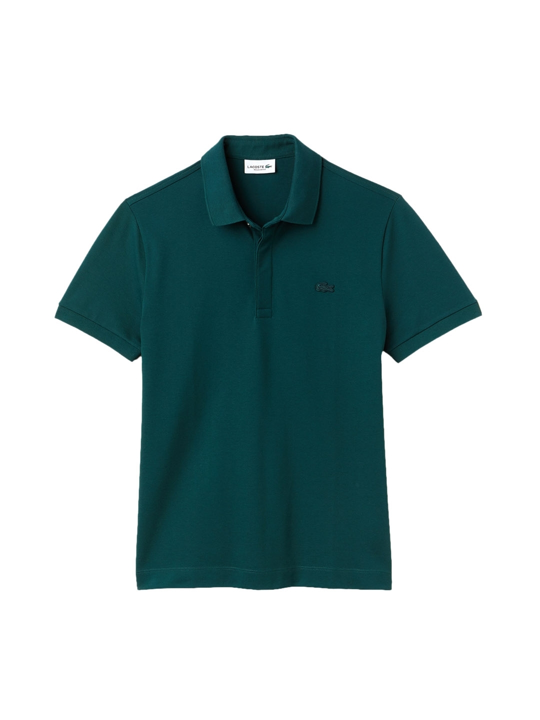 2f40e283c4f Lacoste Men Teal Blue Paris Polo Regular Fit Stretch Cotton Pique. This  product is already at its best price