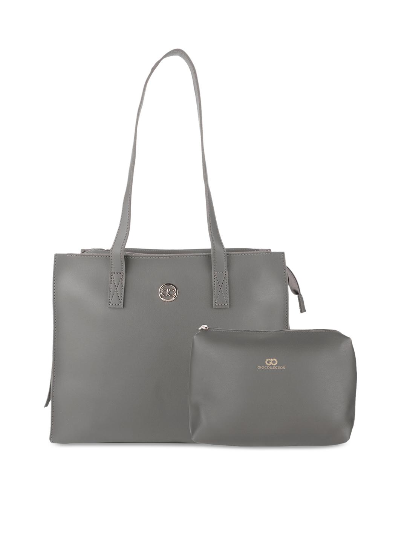 GIO COLLECTION Grey Solid Shoulder Bag