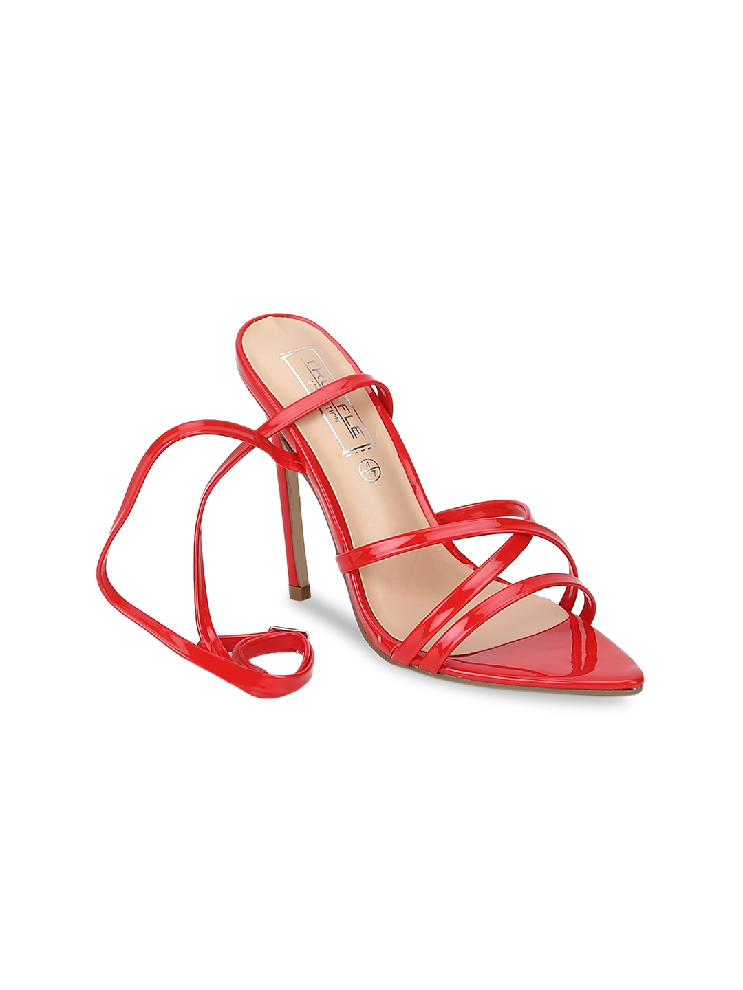 f1e572a53aa3 Buy Truffle Collection Women Red Solid Sandals - Heels for Women ...