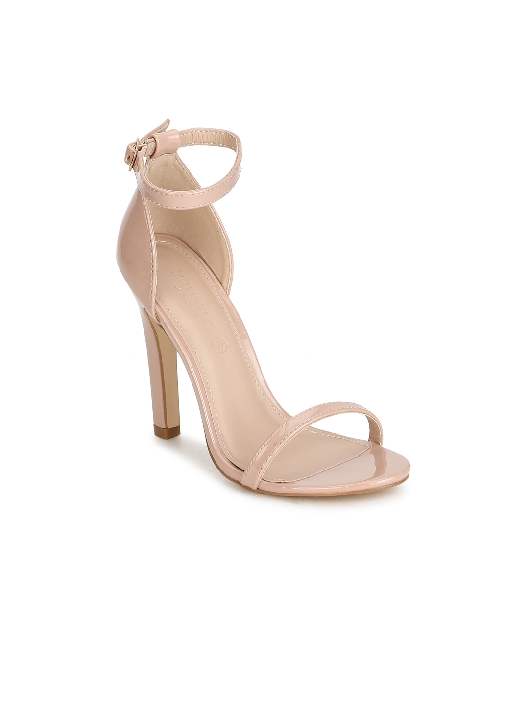 4a34cef73 Buy Truffle Collection Women Nude Coloured Solid Sandals - Heels for ...